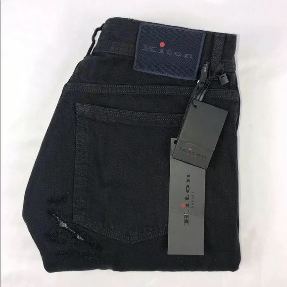 Kiton Other - Kiton Moto Distressed 34x33 Limited Edition Jeans